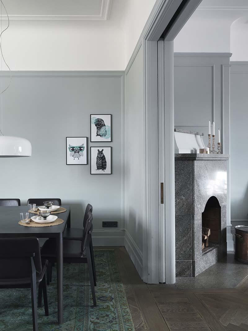grijs groene muren