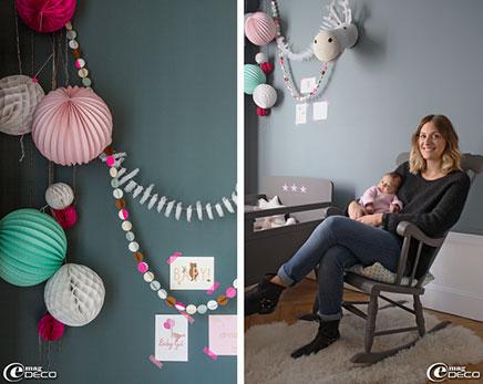Grijze kinderkamer in een oud charmant appartement for Oud roze accessoires huis
