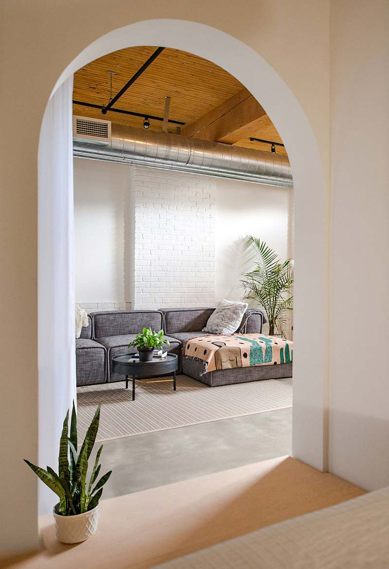 grijze loungebank loft