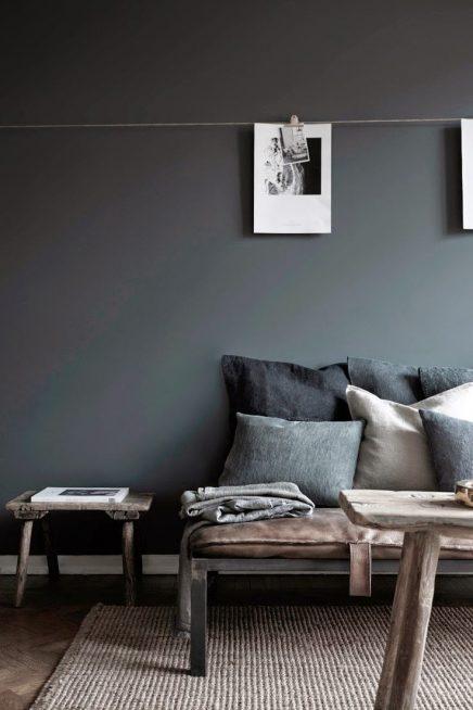 Wat ook erg populair is, is betonstuc of tadelakt. Deze grijze muren ...