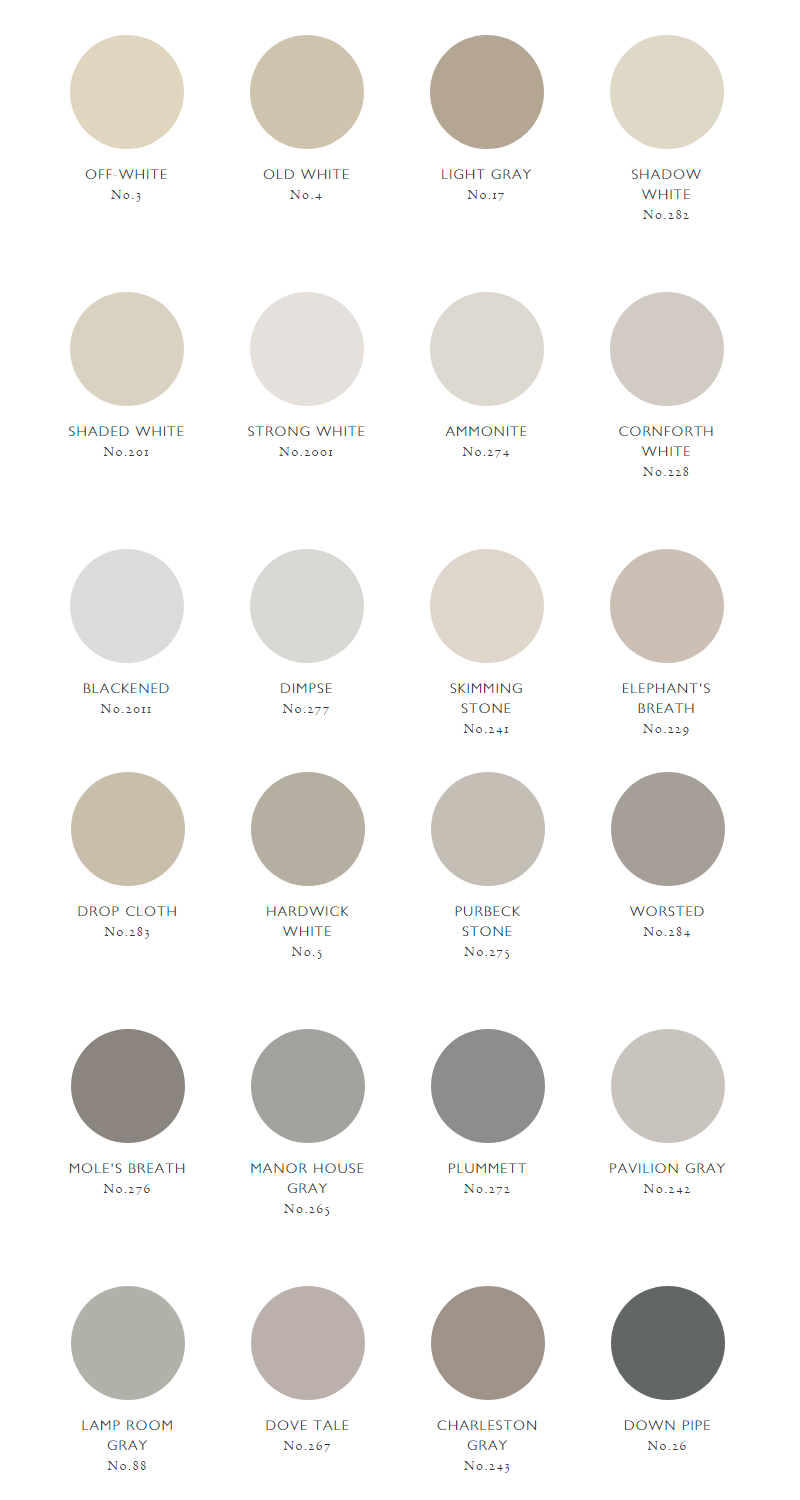 grijze muurverf farrow & ball