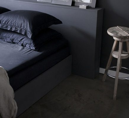 Grijze slaapkamer