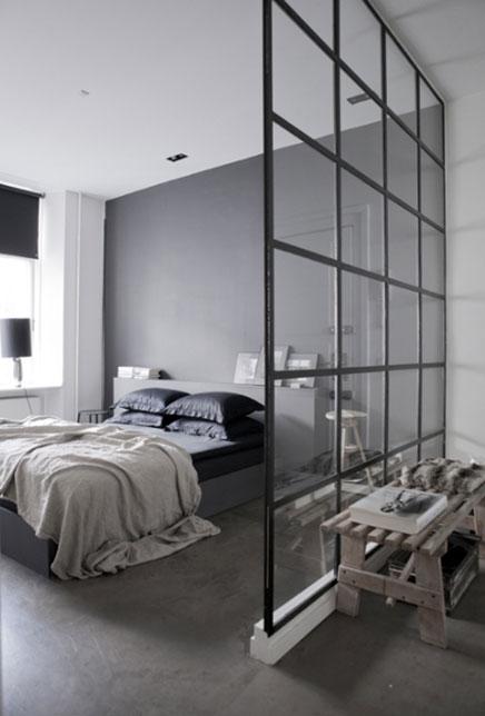 Grijze slaapkamer inrichting - Huis slaapkamer ...