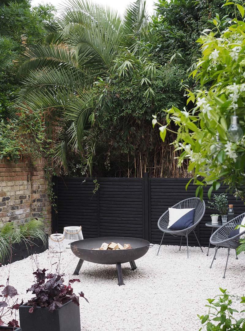 Grind tuin zwarte schuttingen