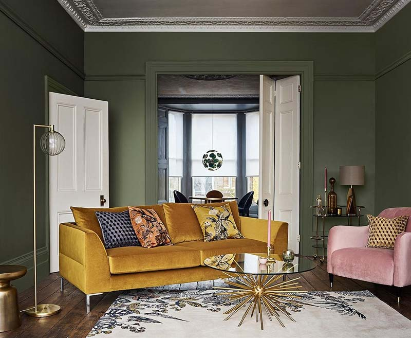Groen interieur combineren fris geel