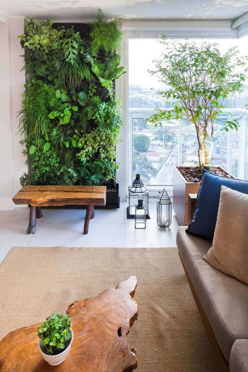 Groen interieur verticale tuin