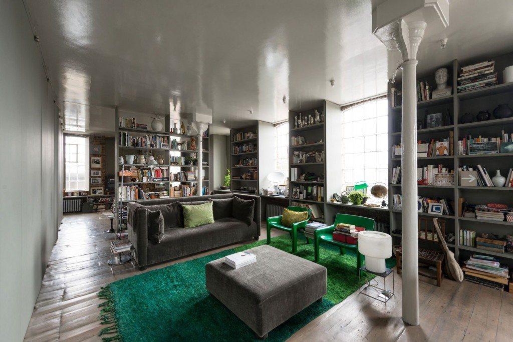 groen-vloerkleed-woonkamer