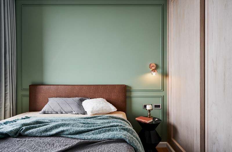 groene muur slaapkamer
