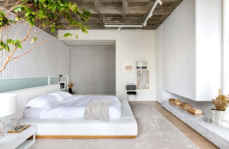 groot vloerkleed onder bed