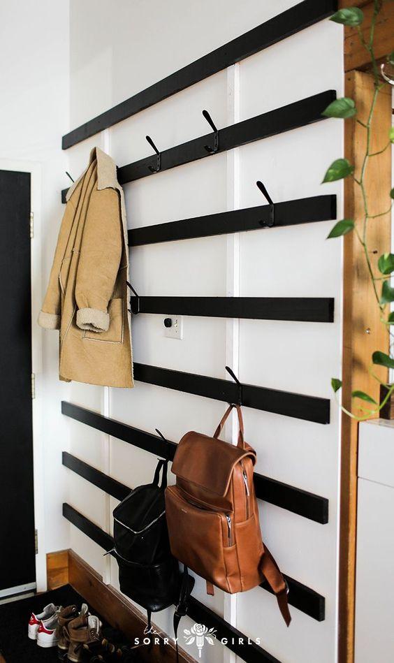 Grote DIY houten wandkapstok