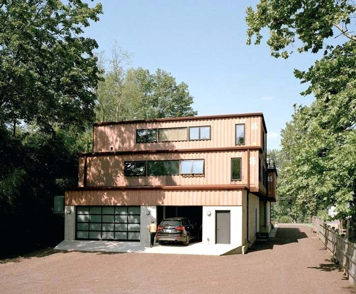 Grote familiewoning zeecontainers