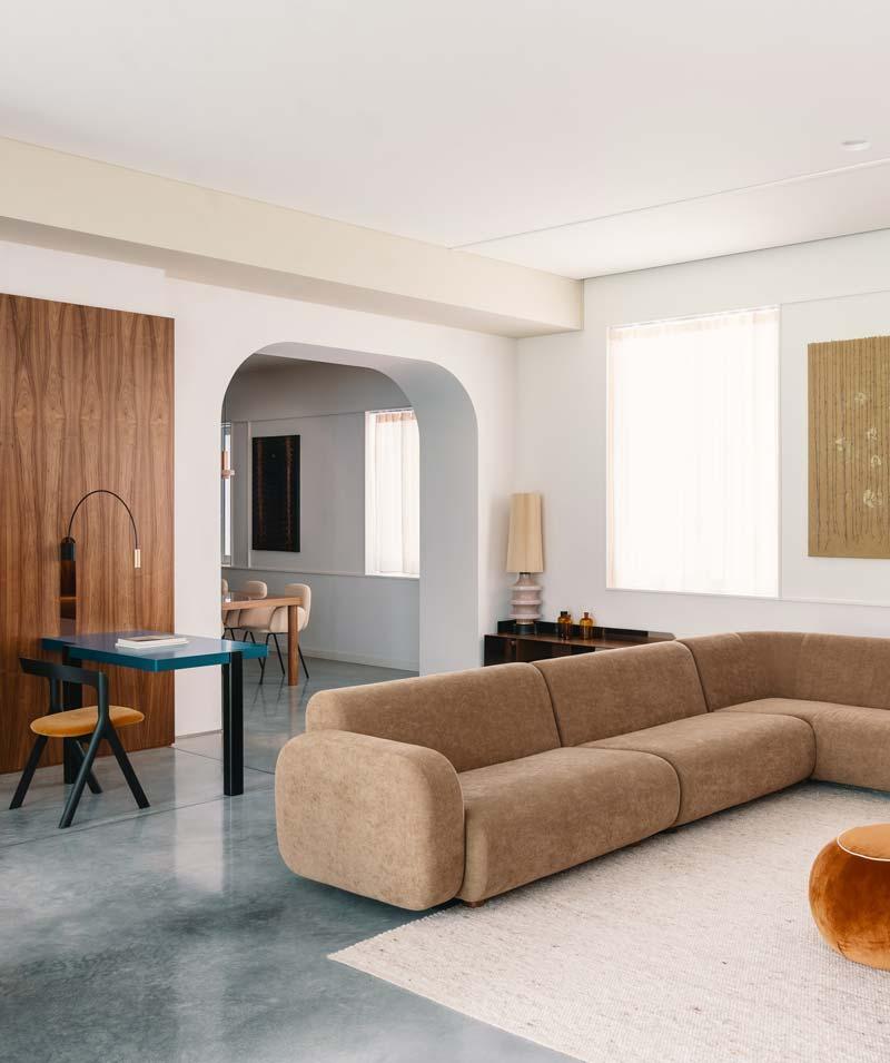 grote hoekbank vintage woonkamer