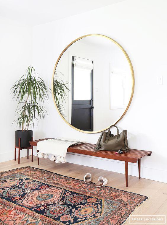 Ronde spiegel inrichting - Grote spiegel kleefstof ...