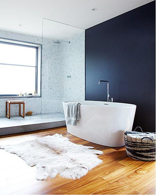 Vloerkleed in badkamer inrichting - Badkamer inrichting ...