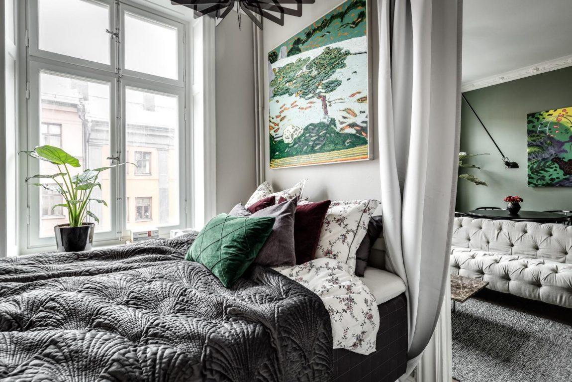 grote-schilderij-kleine-slaapkamer