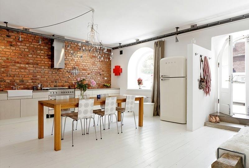 grote smeg koelkast stoere keuken