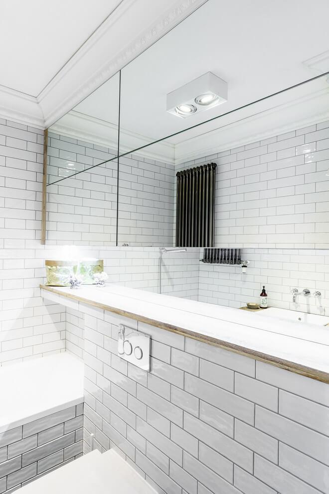 Geweldige inspiratie voor de inrichting van een kleine badkamer inrichting originele badkamer - Zorgen voor een grote spiegel aan de wand ...