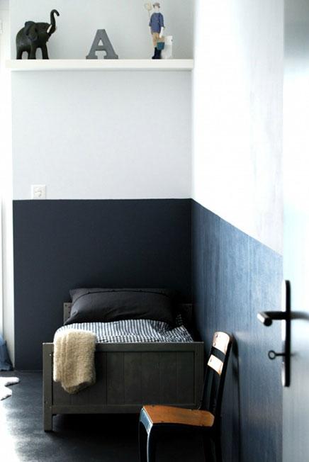 Muur Schilderen Ideeen: Halve muur schilderen in de woonkamer ...