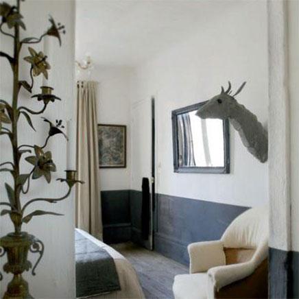 halve muur schilderen inrichting. Black Bedroom Furniture Sets. Home Design Ideas
