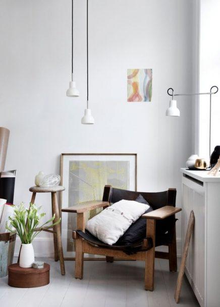 Hanglamp in de hoek inrichting - Een hoek thuis ...
