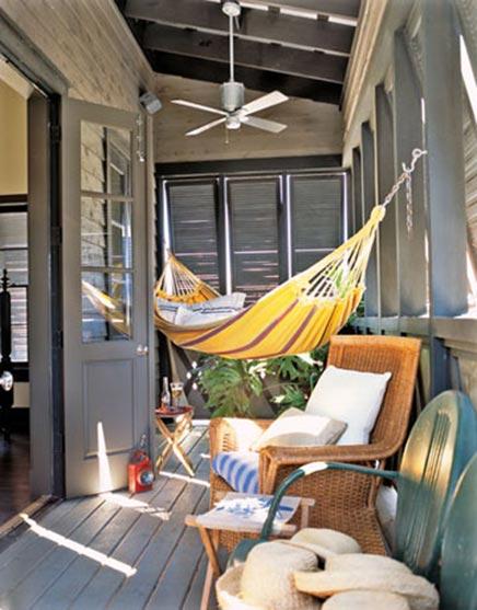 Hangmat op balkon