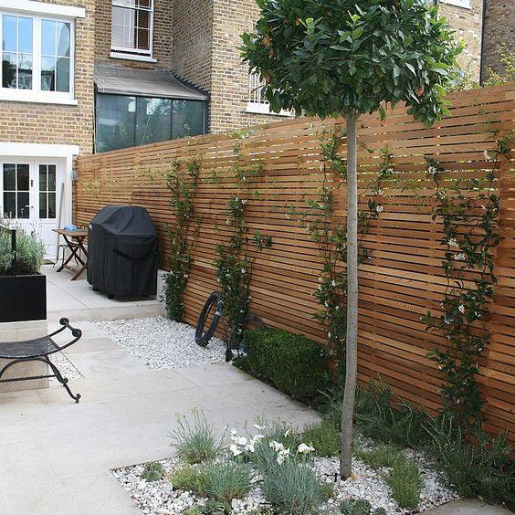 Modern Landscape Plan Style Plants Courtyard Design: Hardhouten Vlonders Vs Composiet Vlonders
