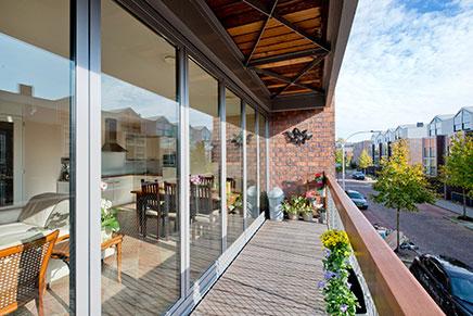 Harmonica deuren voor balkon