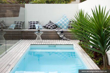 Heerlijke tuin met terras en zwembad inrichting - Deco terras zwembad ...