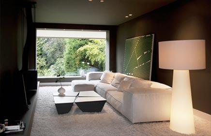 Herenhuis met moderne interieur inrichting inrichting - Interieur inrichting moderne woonkamer ...