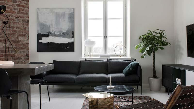 Monochroom kleurenpalet interieur
