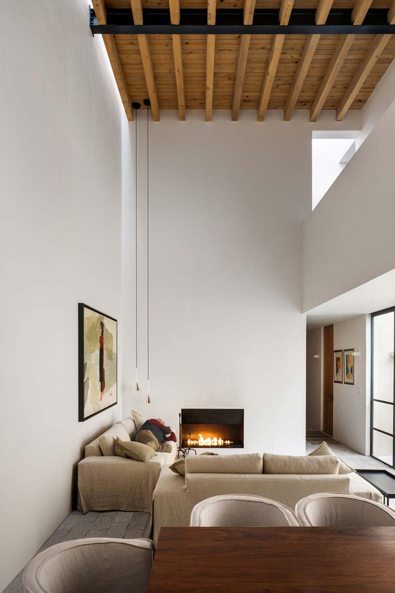 hoge plafonds woonkamer