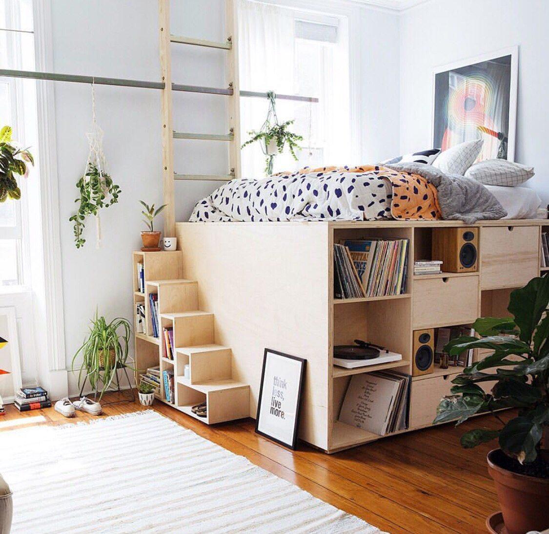 hoogslaper in woonkamer