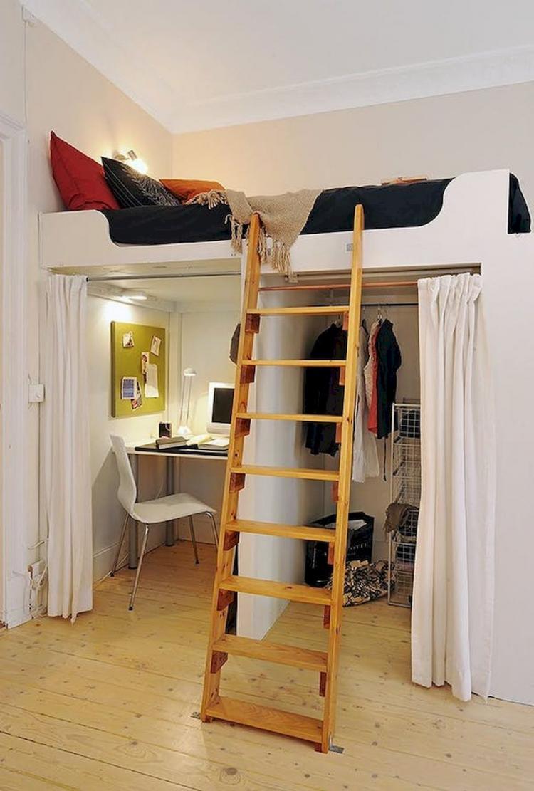 hoogslaper klein appartement