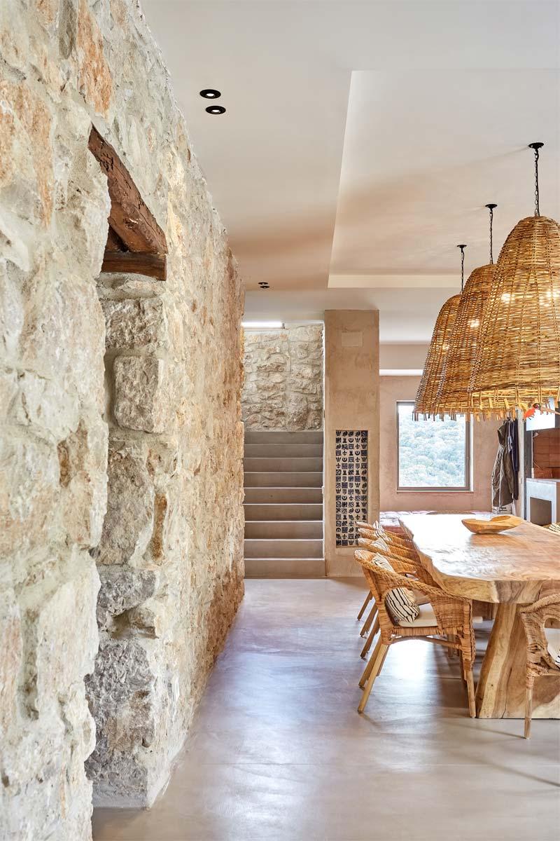 houten accenten interieur eettafel