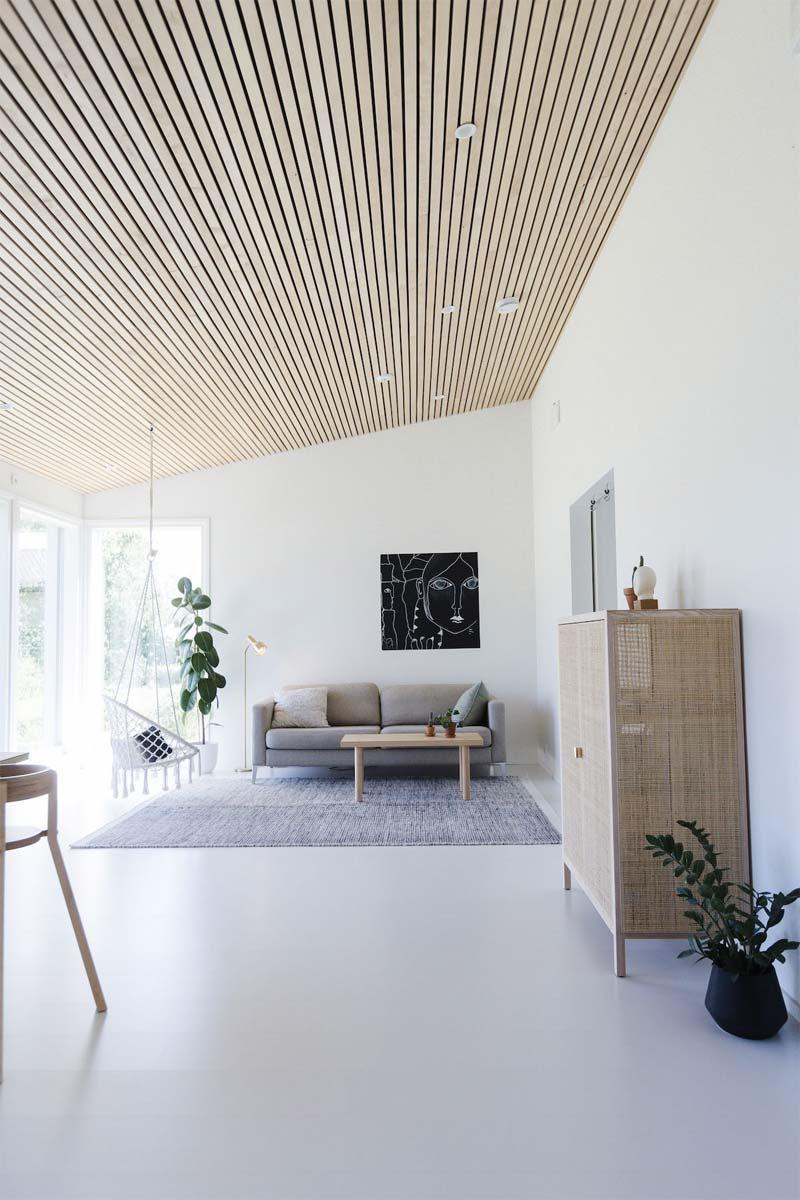 houten accenten interieur plafondbekleding