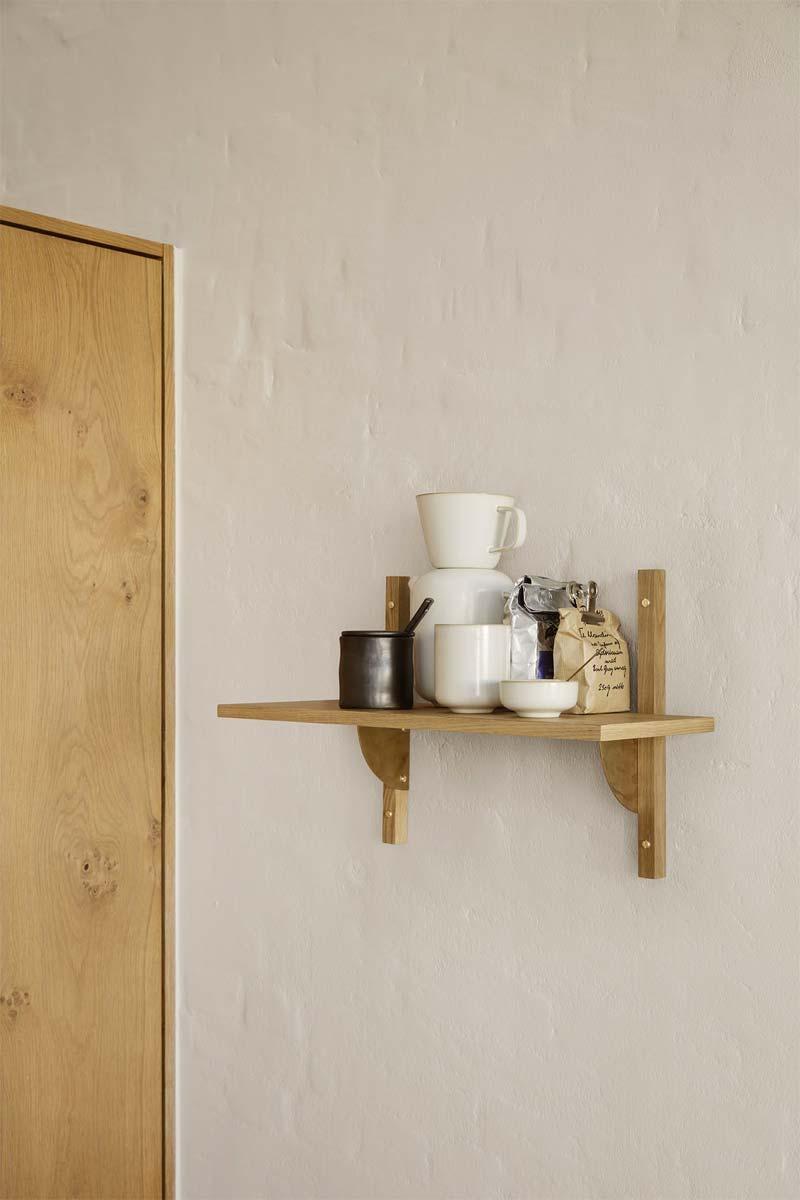 houten accenten interieur wandplanken
