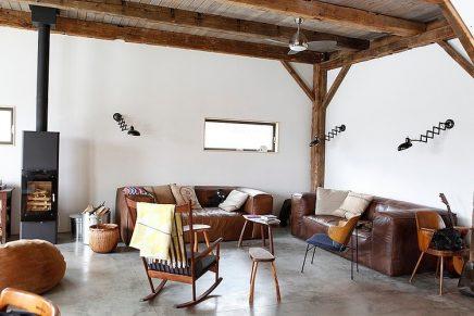 Gevelbekleding schilderen houten balken plafond maken