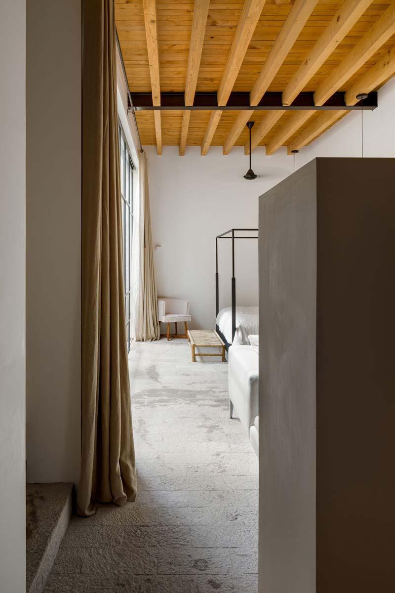 houten balken slaapkamer