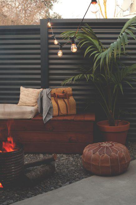 houten bank tuin