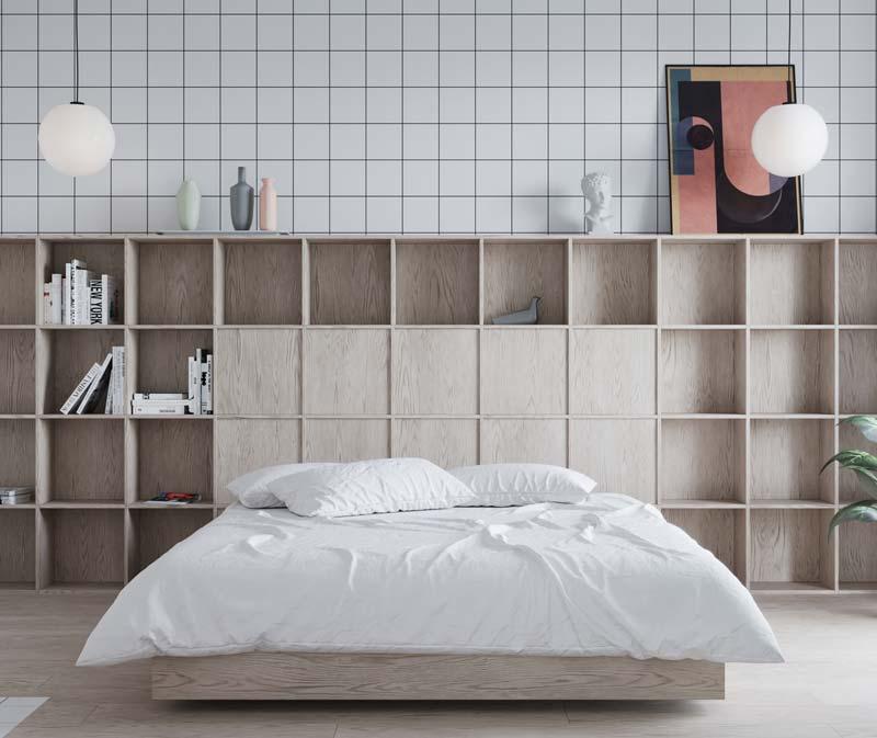 houten bed vakkenkast