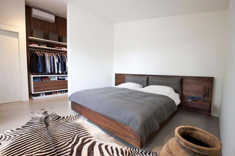 houten design bed