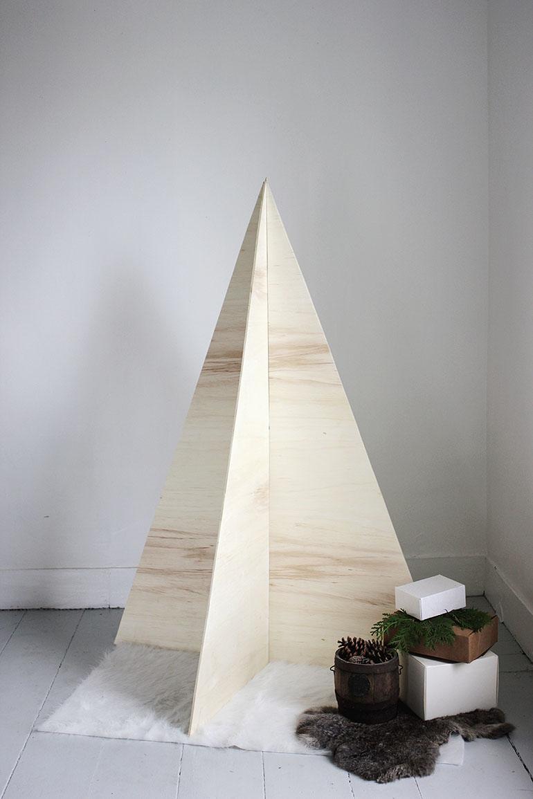 Houten kerstboom maken multiplex