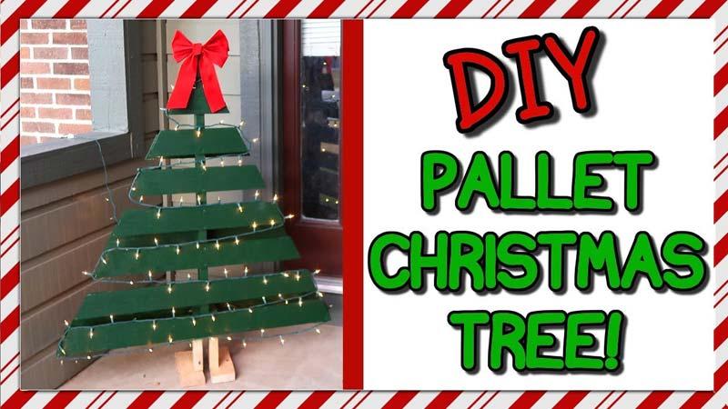 houten kerstboom maken pallet