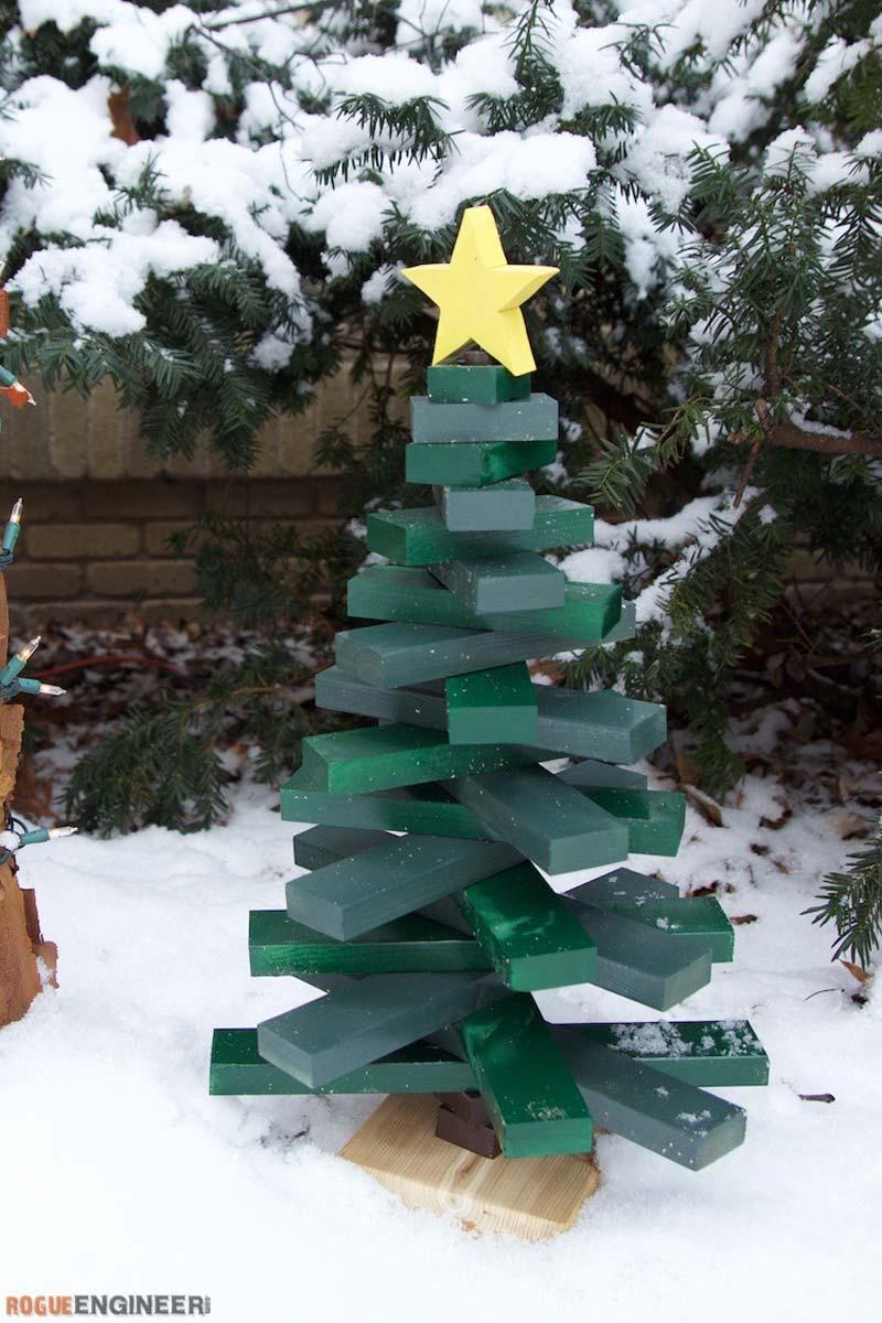 Houten kerstboom maken sloophout