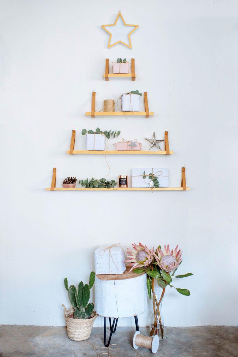 houten kerstboom maken wandplanken