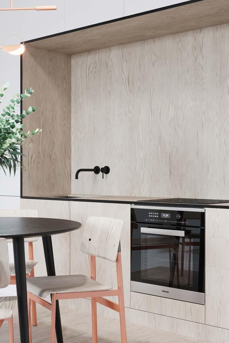 houten keuken achterwand