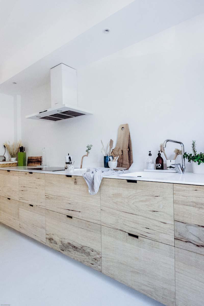 houten keuken ikea metod