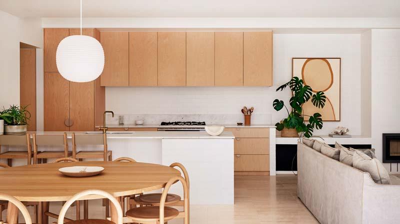 houten keuken sereen interieur