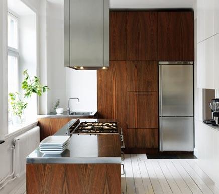 Houten keuken inrichting for Moderne keuken in de oude