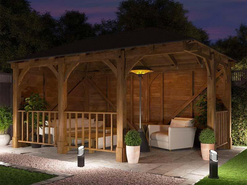 houten tuinoverkapping maken lounge